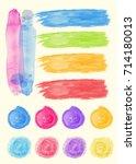 colorful brushstrokes for... | Shutterstock .eps vector #714180013