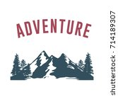 adventure with mountain... | Shutterstock .eps vector #714189307