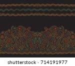 vector seamless border in... | Shutterstock .eps vector #714191977