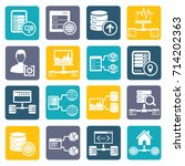 database and network icon set... | Shutterstock .eps vector #714202363