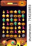 cartoon magic halloween game... | Shutterstock .eps vector #714210853