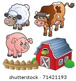 collection of various farm... | Shutterstock .eps vector #71421193
