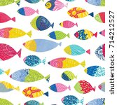 colorful fish.  seamless... | Shutterstock .eps vector #714212527