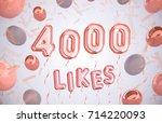 4000 likes  4000 followers...   Shutterstock . vector #714220093