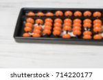 mental arithmetic blurred... | Shutterstock . vector #714220177