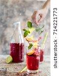 Beautiful Red Lemonade Splash...