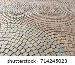 old paving slab texture | Shutterstock . vector #714245023