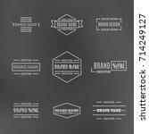 set of vintage emblems  labels  ... | Shutterstock .eps vector #714249127