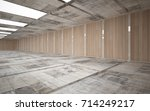abstract  concrete and wood... | Shutterstock . vector #714249217