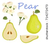 fresh pear icon vector... | Shutterstock .eps vector #714272473