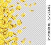 gold coins rain or golden money ...   Shutterstock .eps vector #714293383