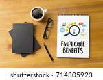 employee benefits  technology... | Shutterstock . vector #714305923