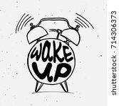 hand draw alarm clock... | Shutterstock .eps vector #714306373