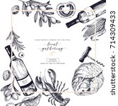 vector hand drawn banner. local ... | Shutterstock .eps vector #714309433