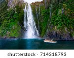 stirling falls at milford sound ... | Shutterstock . vector #714318793