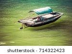 traditonal vietnamese boats and ... | Shutterstock . vector #714322423