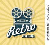 retro music. vector... | Shutterstock .eps vector #714326677