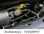 the car engine blurred abstract ... | Shutterstock . vector #714328957