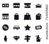 shopping icon set   Shutterstock .eps vector #714335863