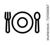 dining icon | Shutterstock .eps vector #714336067