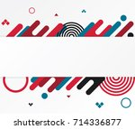 modern abstract shapes. design... | Shutterstock .eps vector #714336877