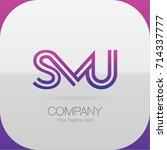 logo letter combinations s  m... | Shutterstock .eps vector #714337777