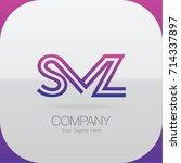 logo letter combinations s  m... | Shutterstock .eps vector #714337897
