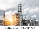 close up industrial zone. plant ... | Shutterstock . vector #714338773