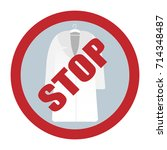 vector icon of a ban on fur... | Shutterstock .eps vector #714348487