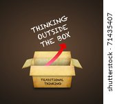 thinking outside the box | Shutterstock . vector #71435407