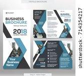 business brochure template in... | Shutterstock .eps vector #714354217
