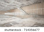 abstract  concrete and wood... | Shutterstock . vector #714356677