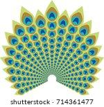 peacock feather abstract vector ...   Shutterstock .eps vector #714361477