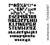 funny english alphabet. vector... | Shutterstock .eps vector #714363487