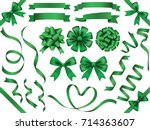 a set of various green vector... | Shutterstock .eps vector #714363607