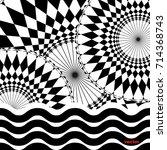 geometric kaleidoscope... | Shutterstock .eps vector #714368743