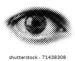 Halftone Human Eye