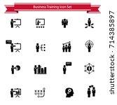business training icon set   Shutterstock .eps vector #714385897