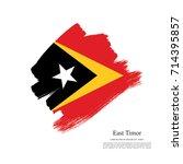 flag of east timor | Shutterstock .eps vector #714395857