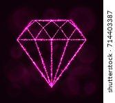 diamond icon. jewel symbol... | Shutterstock . vector #714403387