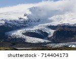 iceland's largest glacier... | Shutterstock . vector #714404173