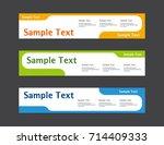 vector abstract web banner... | Shutterstock .eps vector #714409333