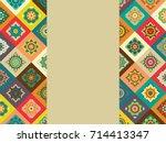 morocco disintegration template....   Shutterstock . vector #714413347
