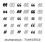 basic shapes for citation.... | Shutterstock .eps vector #714415513
