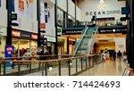 ocean terminal  modern shopping ... | Shutterstock . vector #714424693