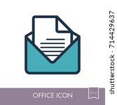 message outline icon. office...