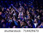 madrid   sep 9  the crowd in a...   Shutterstock . vector #714429673