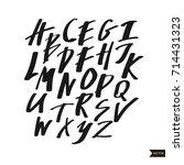 alphabet letters.black... | Shutterstock .eps vector #714431323