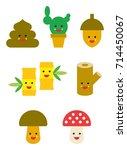 nature cute emojis | Shutterstock .eps vector #714450067