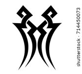 tattoo tribal vector design.... | Shutterstock .eps vector #714450073